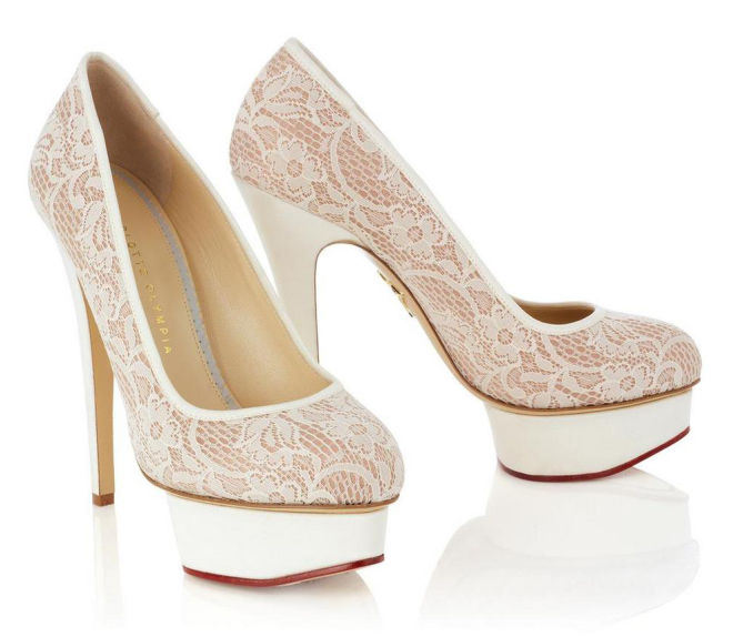 charlotte olympia wedding shoes photo - 1