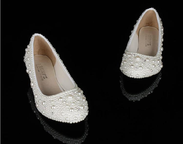 cheap bridal shoes low heel photo - 1
