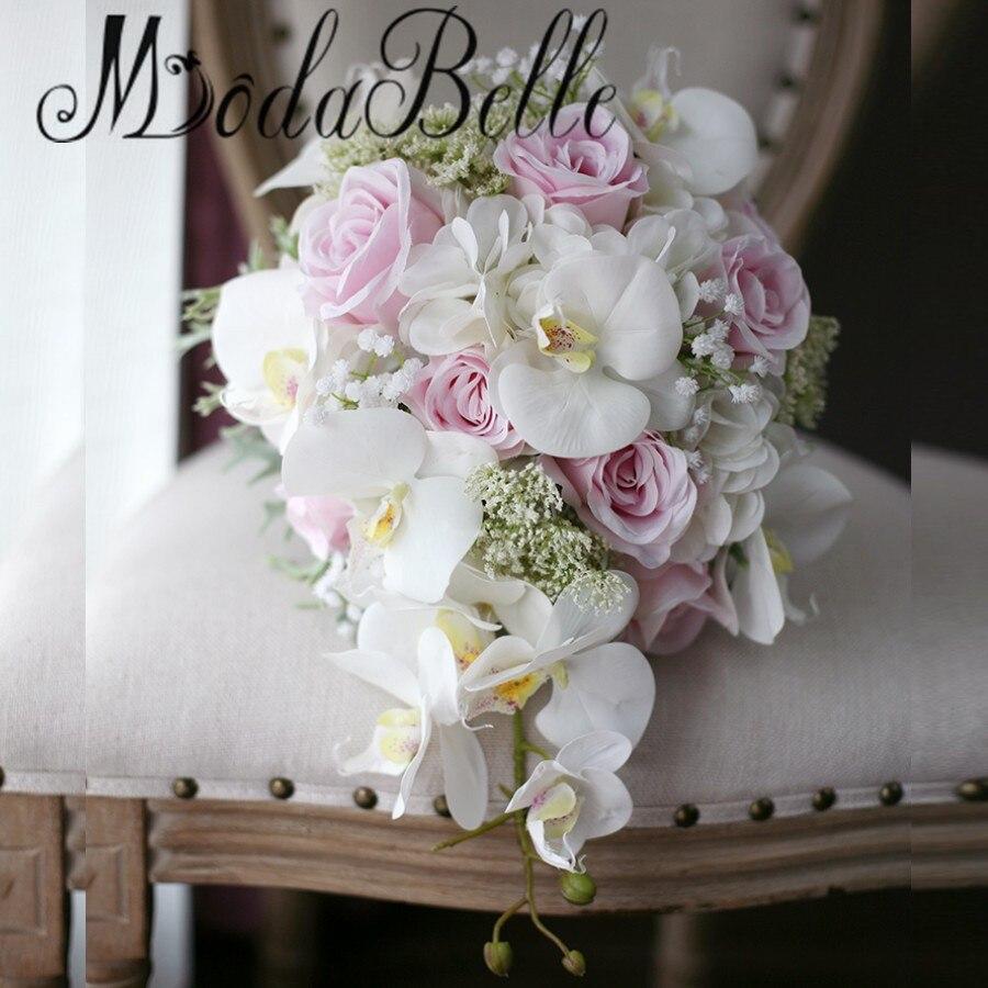 cheap cascading wedding bouquets photo - 1