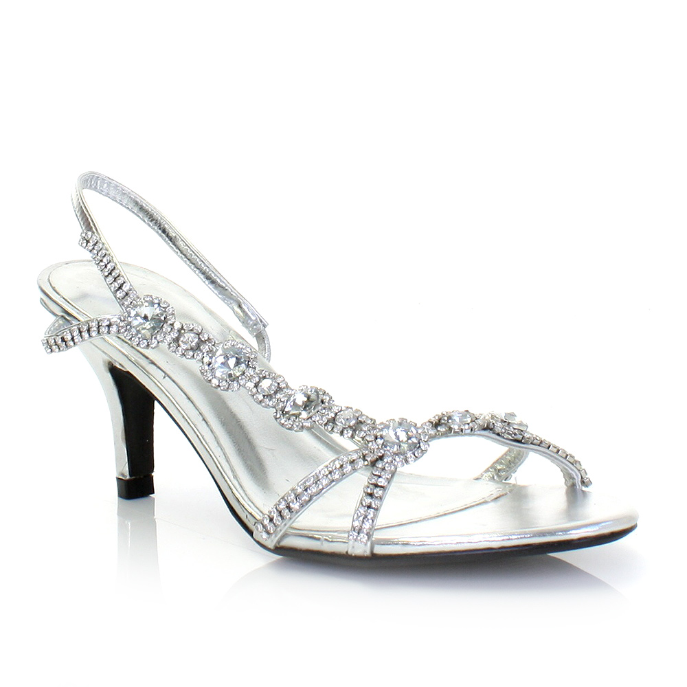 cheap silver shoes for wedding photo - 1