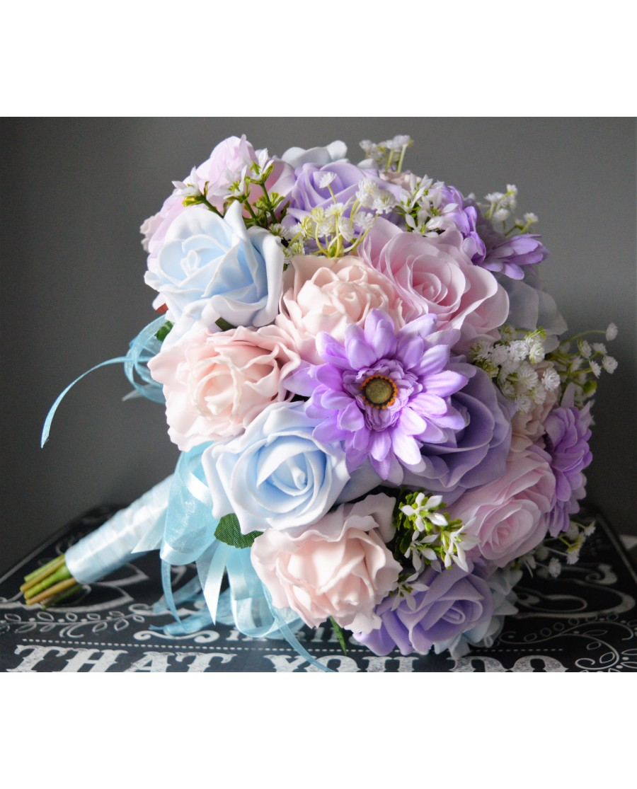 cheap wedding bouquets real flowers photo - 1