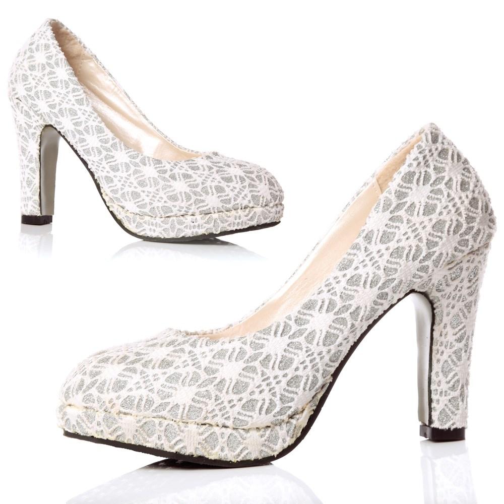 chunky heel wedding shoes photo - 1