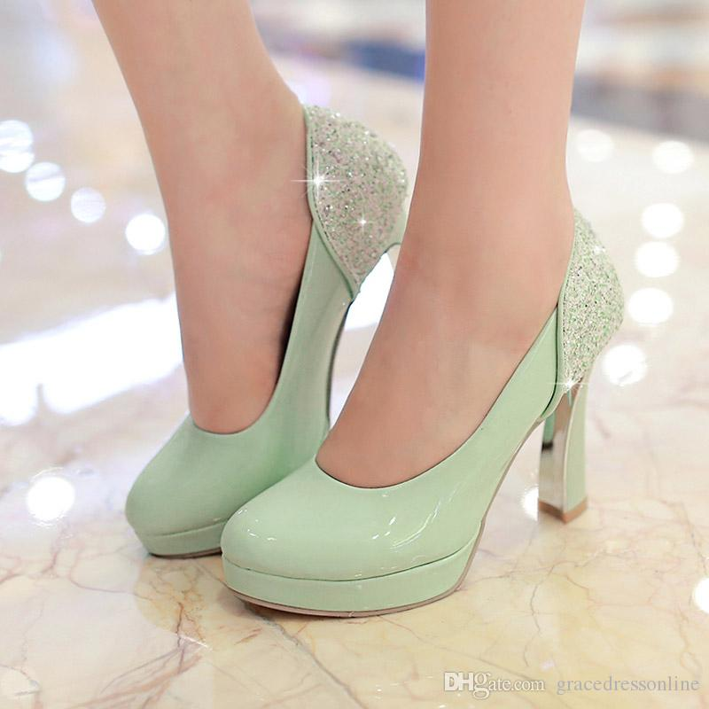 chunky wedding shoes photo - 1