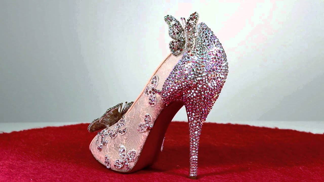 cinderella glass shoes for wedding photo - 1