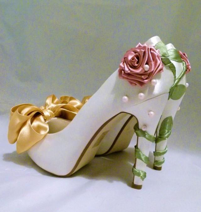 cinderella inspired wedding shoes photo - 1