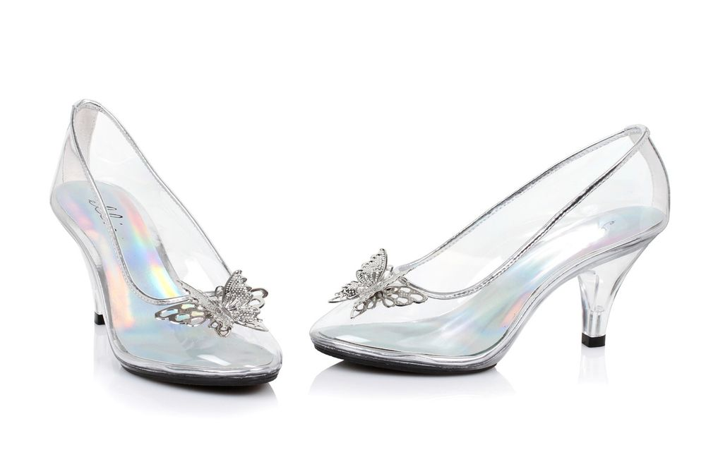 cinderella wedding shoes glass photo - 1