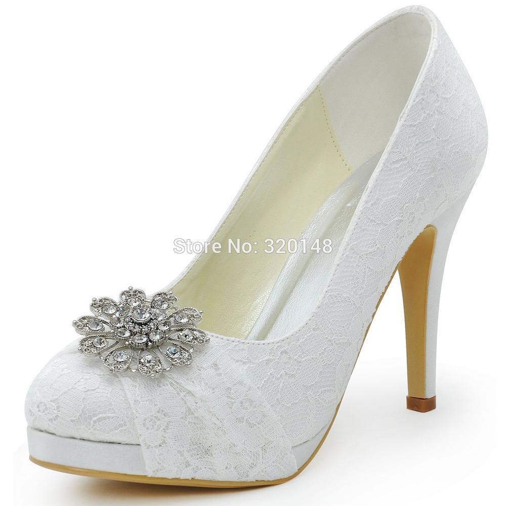 closed toe bridal shoes photo - 1