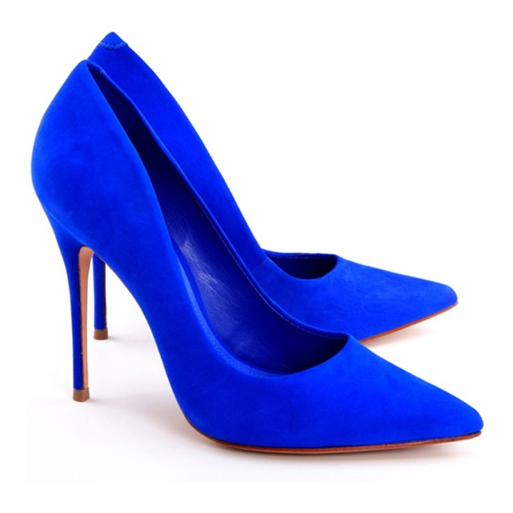 cobalt blue wedding shoes photo - 1