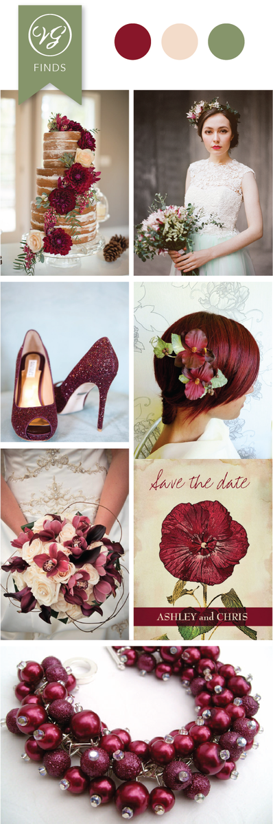 cranberry shoes for wedding photo - 1