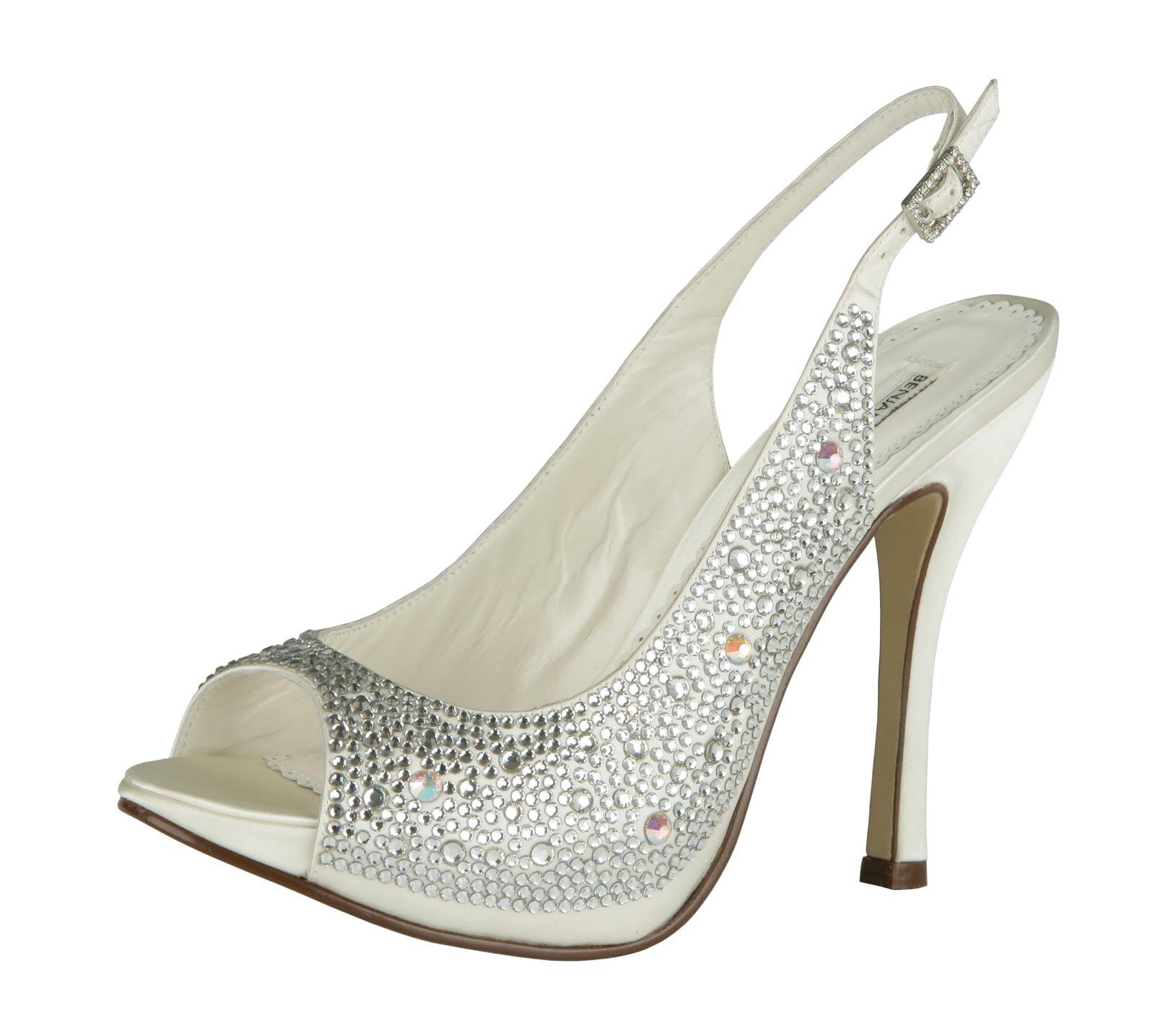 crystal shoes bridal photo - 1