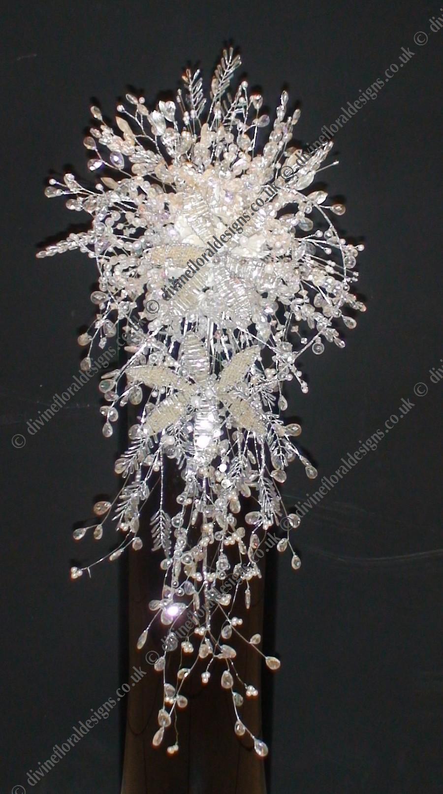 crystal wedding bouquet photo - 1