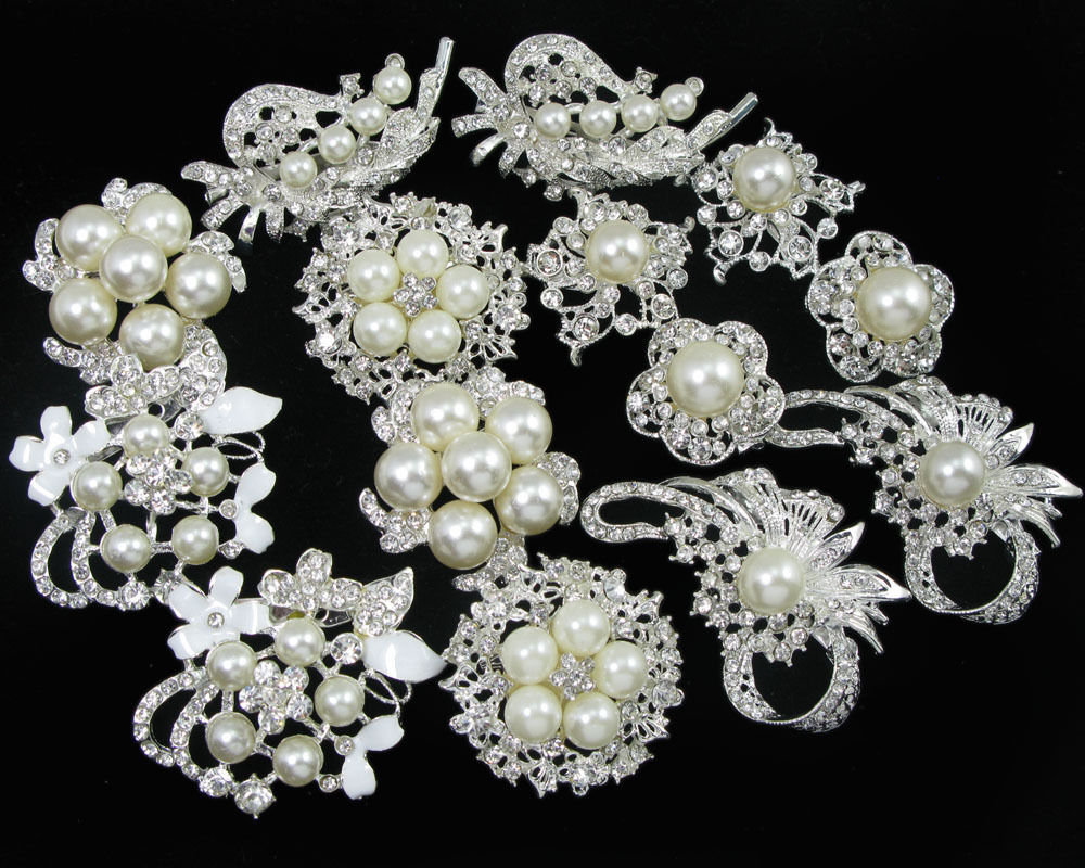 crystal wedding bouquets wholesale photo - 1