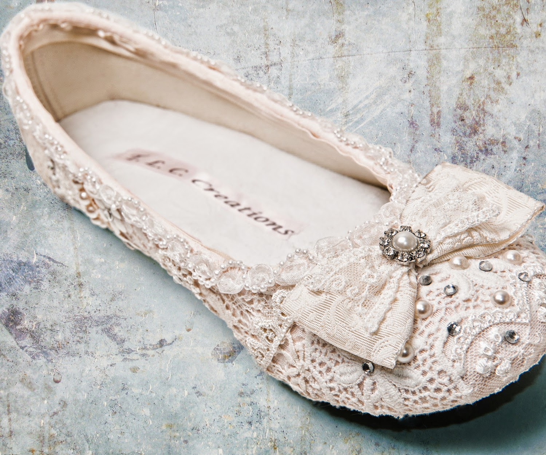 cute wedding flats shoes photo - 1