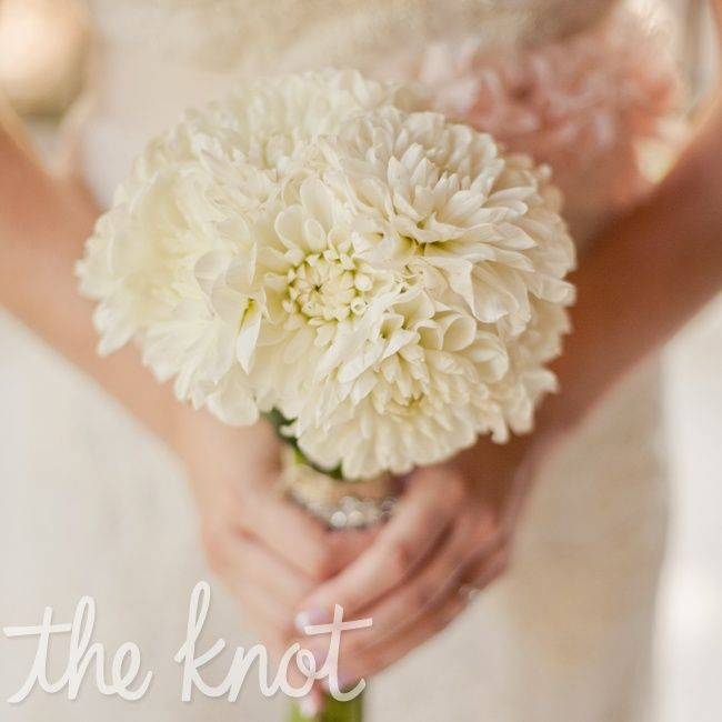 dahlia wedding bouquet photo - 1