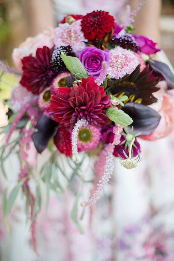 dahlia wedding flowers photo - 1