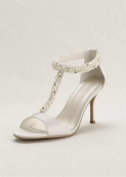 davids bridal ivory shoes photo - 1