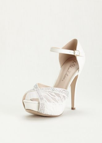 davids bridal lace shoes photo - 1