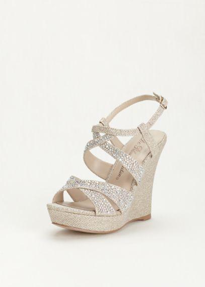 davids bridal wedge shoes photo - 1