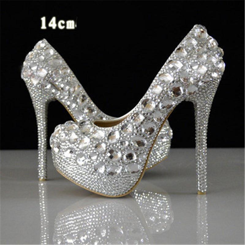 diamond wedding shoes photo - 1