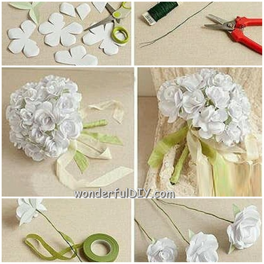 diy flower bouquets wedding photo - 1
