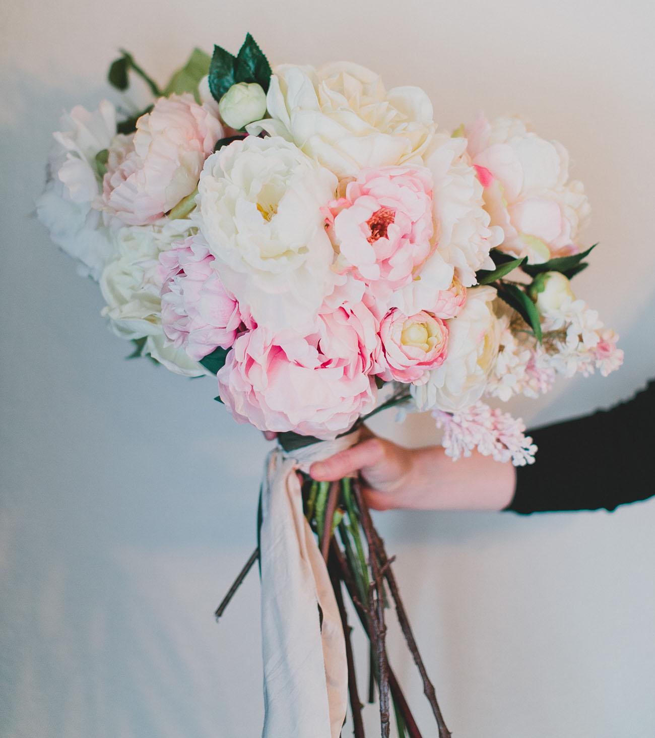 diy wedding bouquets fake flowers photo - 1