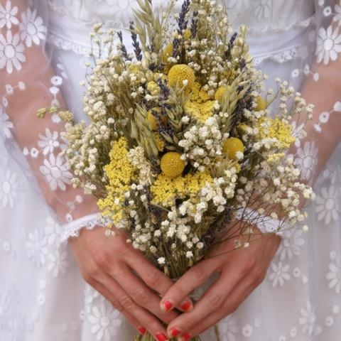 dried flowers wedding bouquet photo - 1