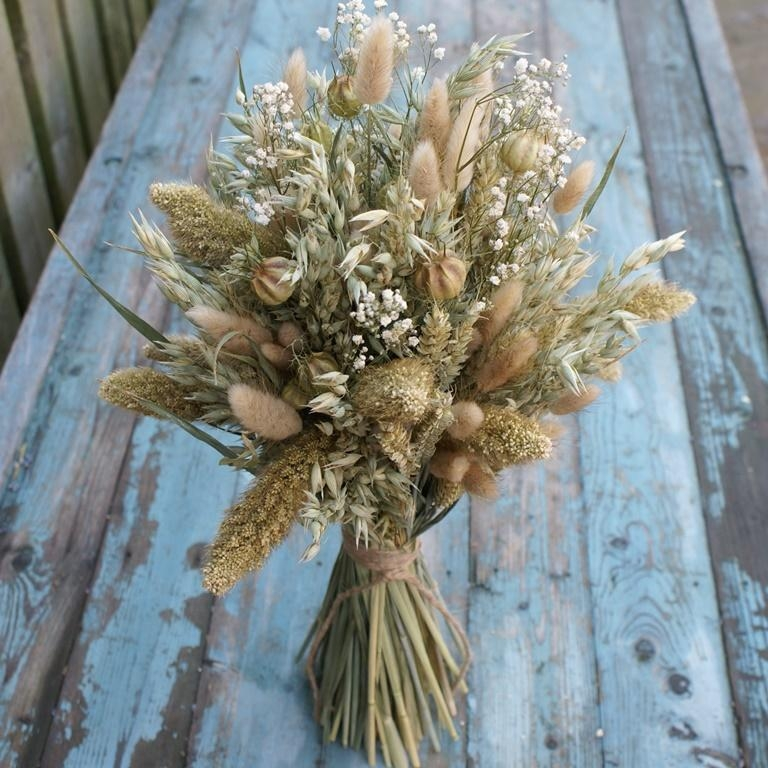 dried flowers wedding bouquets photo - 1