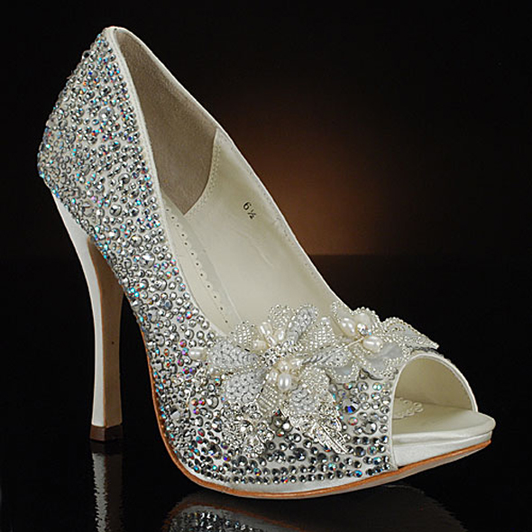 dsw wedding shoes silver photo - 1