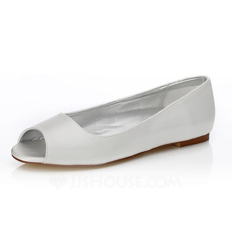 dyeable flat wedding shoes photo - 1