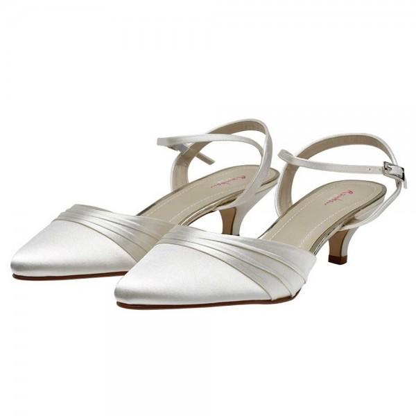 dyeable wedding shoes low heel photo - 1