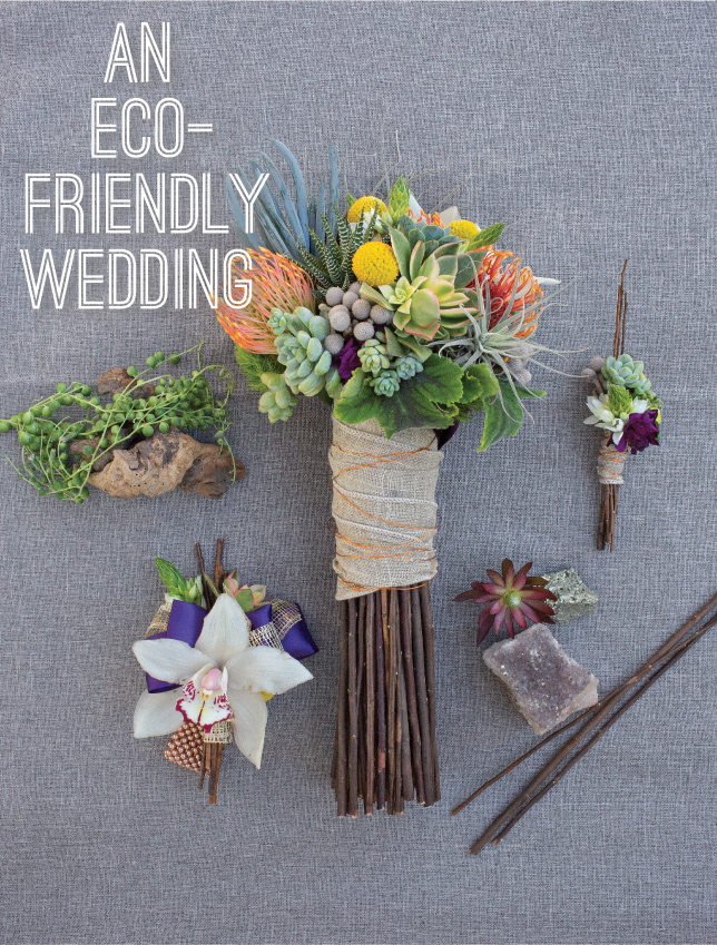 eco friendly wedding bouquets photo - 1