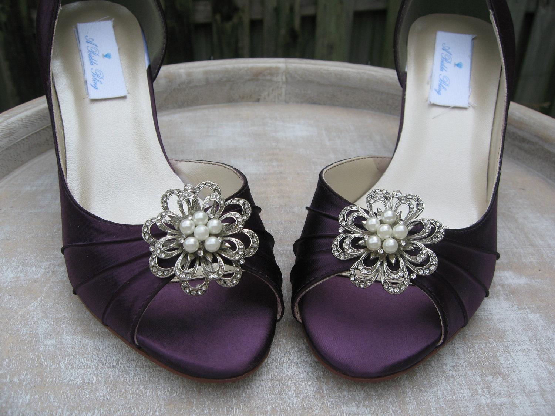 eggplant color wedding shoes photo - 1