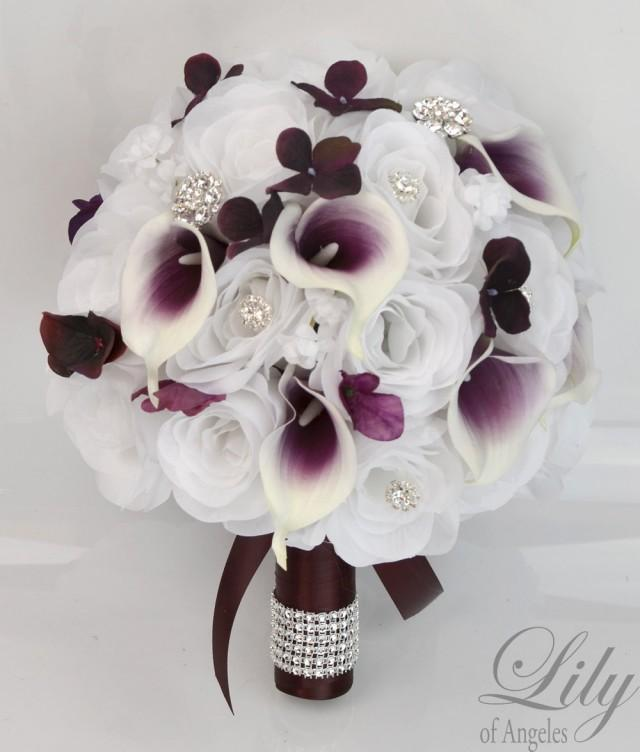 eggplant colored wedding bouquets photo - 1
