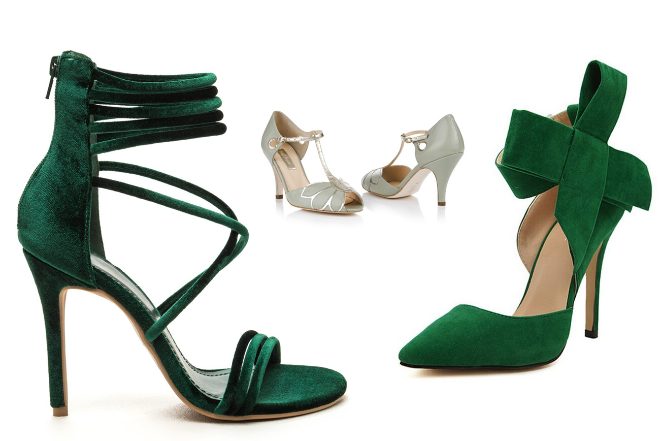 emerald green wedding shoes photo - 1