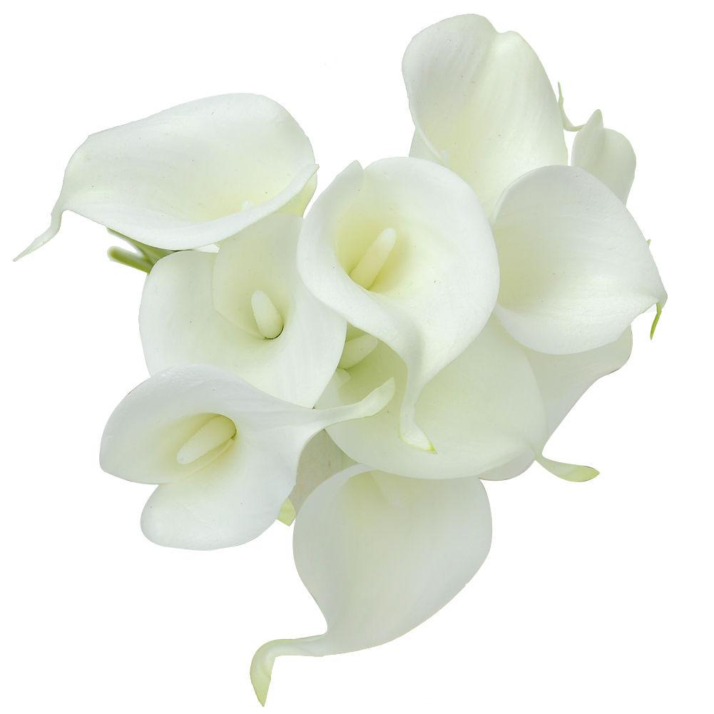 fake calla lily wedding bouquets photo - 1