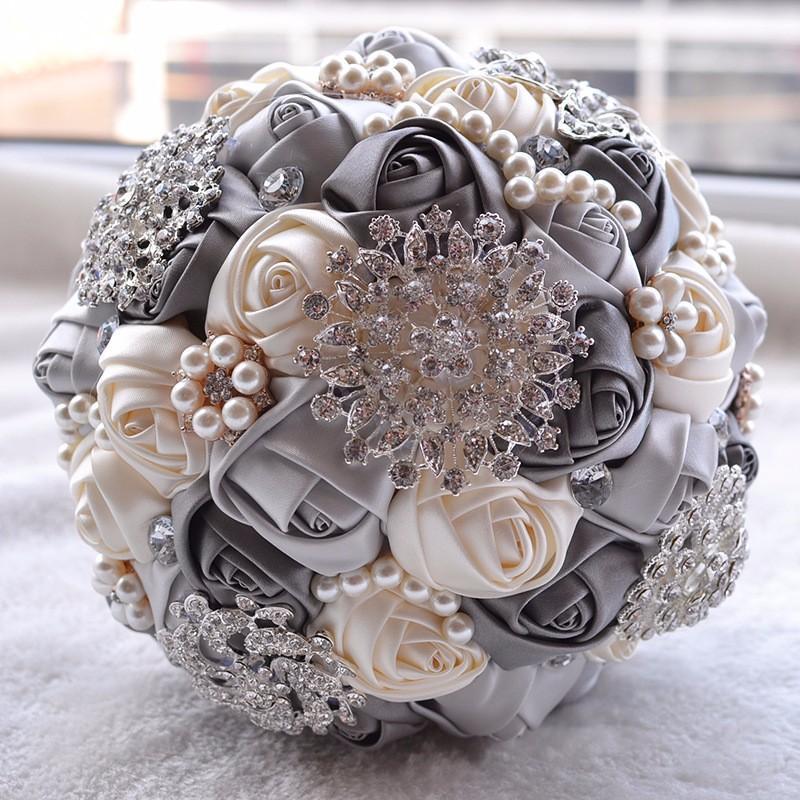 fake wedding flower bouquets photo - 1
