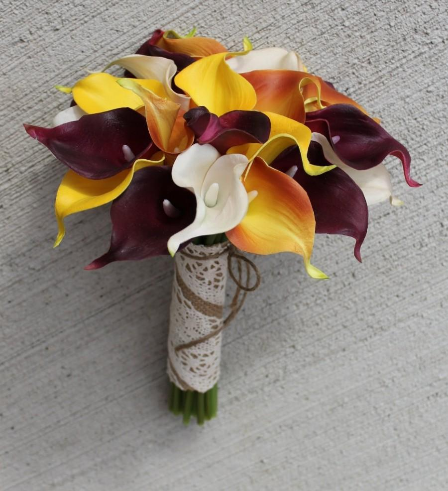 fall calla lily wedding bouquets photo - 1