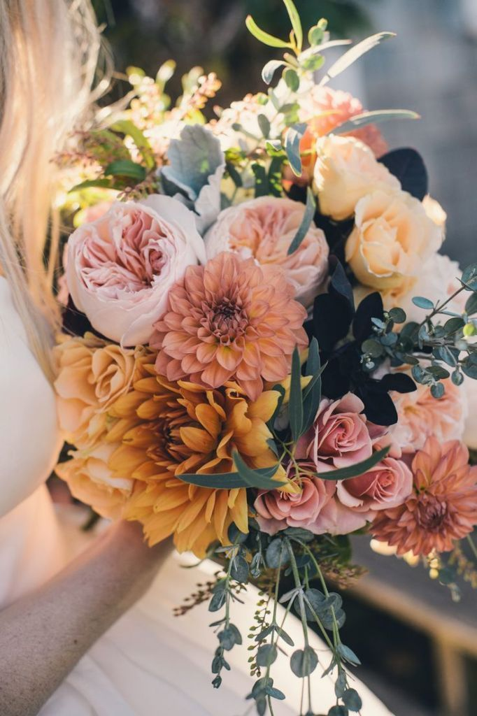 fall flower bouquets wedding photo - 1