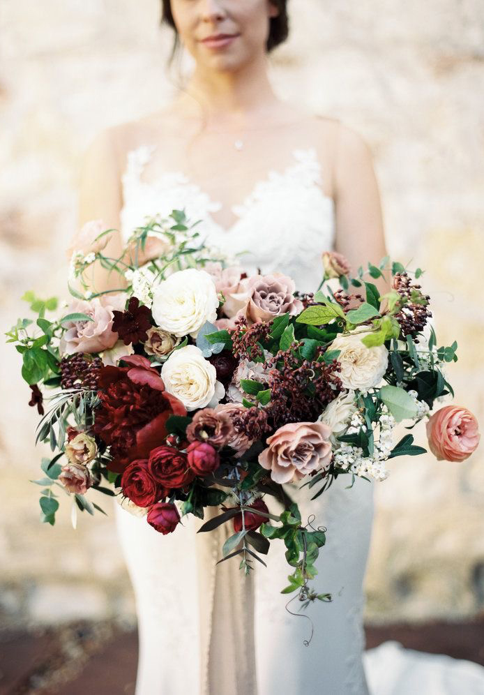 fall flowers for wedding bouquet photo - 1