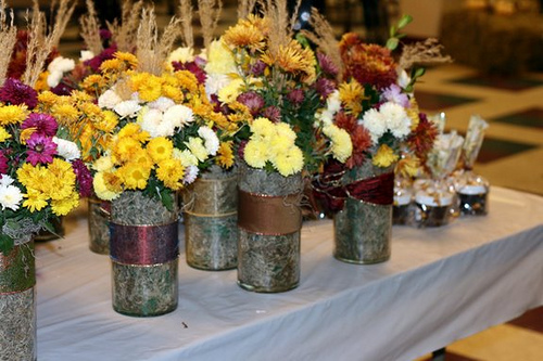 fall flowers for wedding centerpieces photo - 1