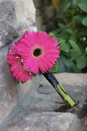 fall gerber daisy wedding bouquets photo - 1