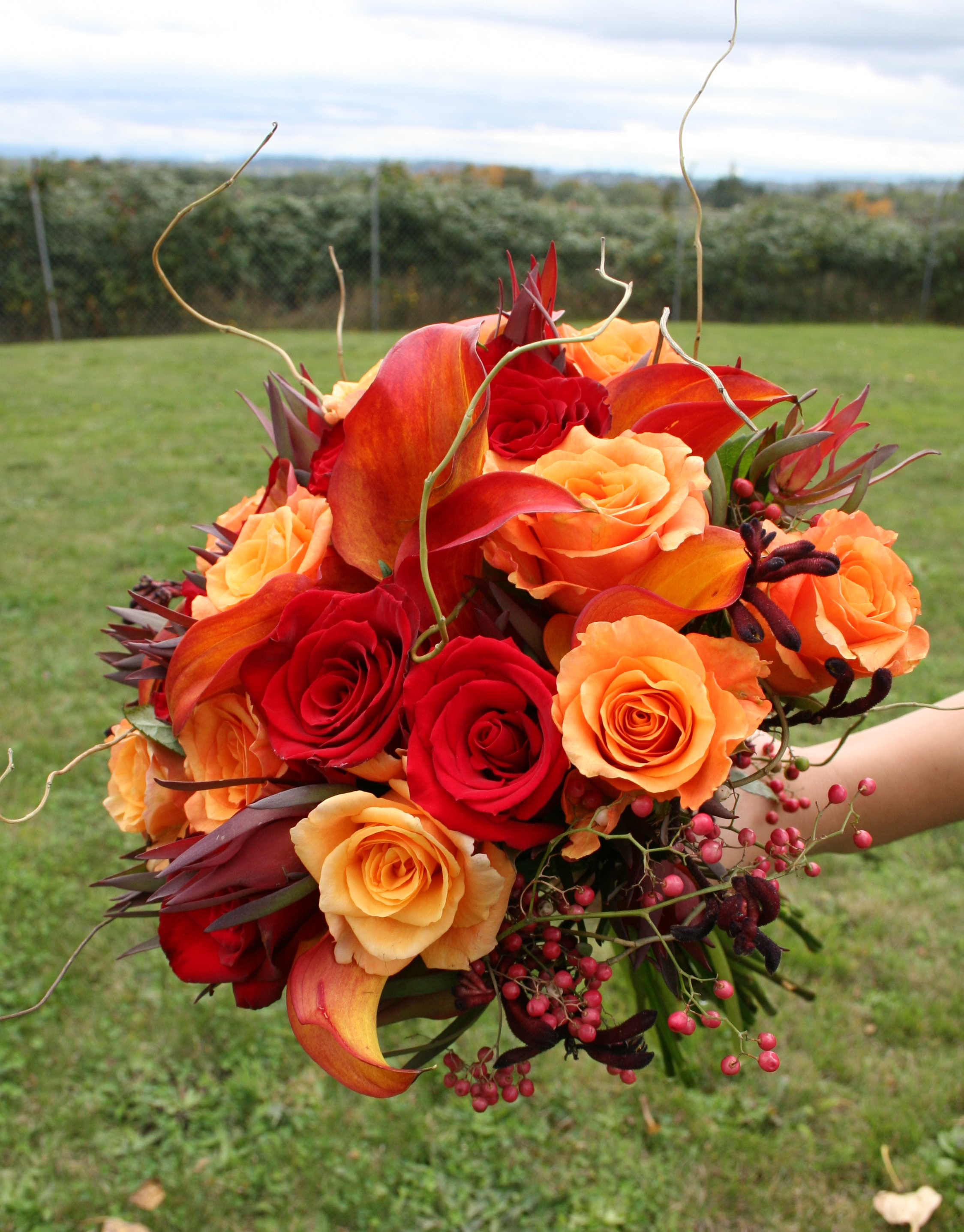 fall wedding bridal bouquets photo - 1