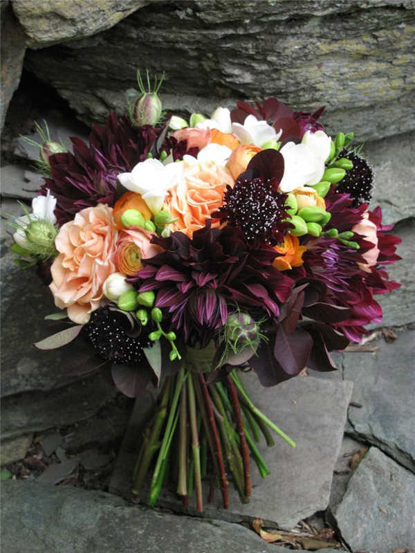 fall wedding flower bouquets ideas photo - 1