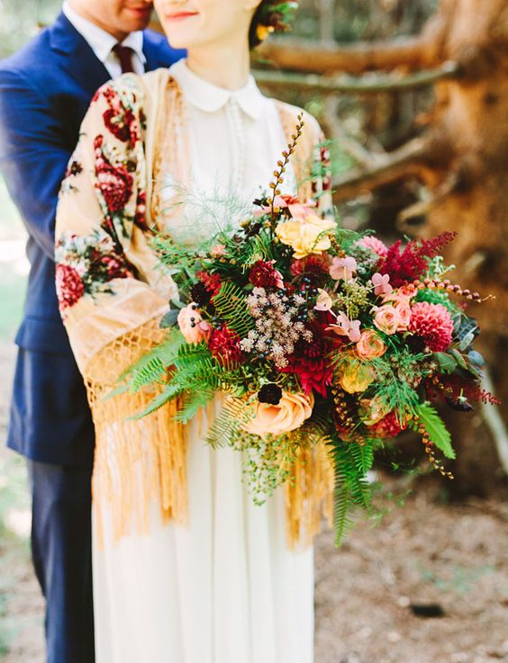 fall wedding flowers bouquets photo - 1