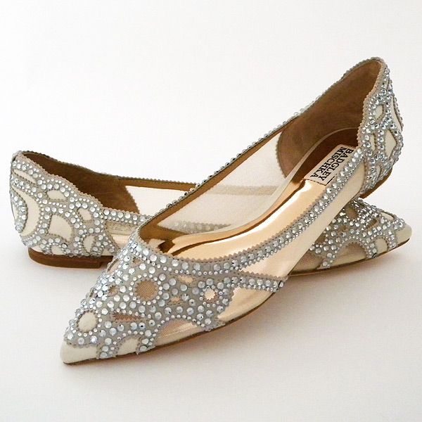 flat ballerina wedding shoes photo - 1