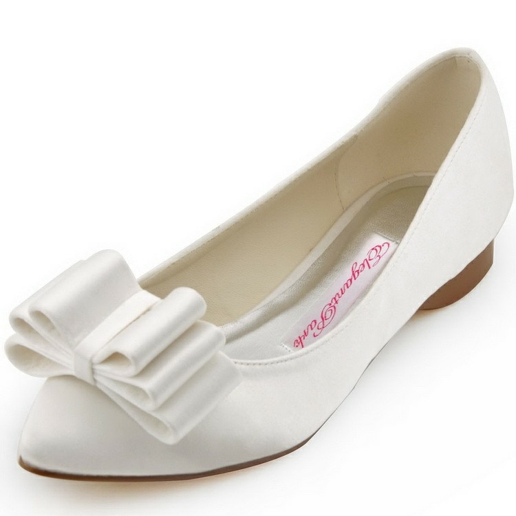 flat bridal shoes photo - 1