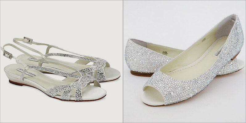 flat open toe wedding shoes photo - 1