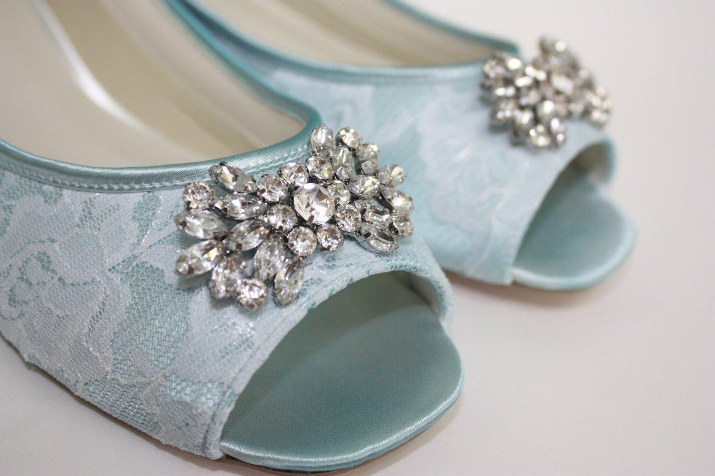 flat peep toe bridal shoes photo - 1