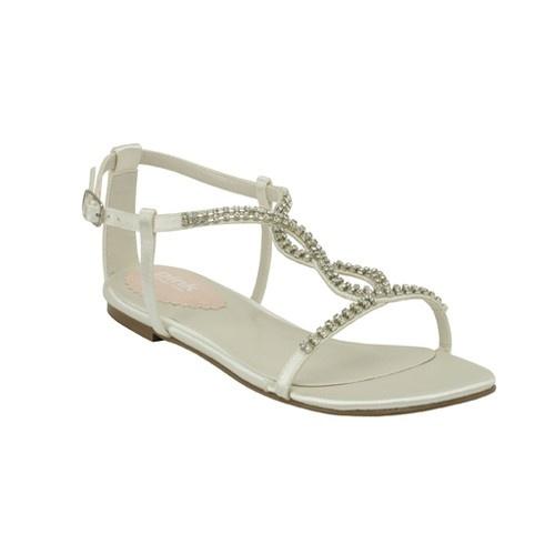 flat sandal wedding shoes photo - 1