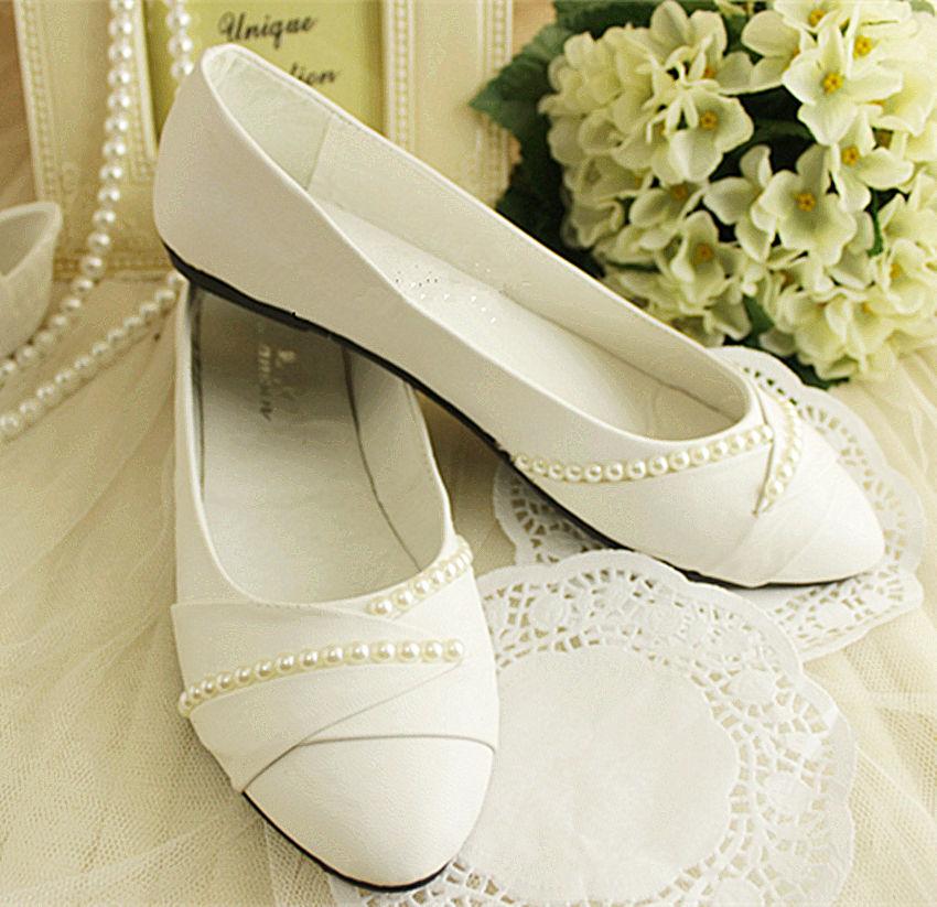flat wedding shoes size 11 photo - 1